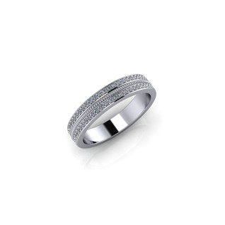 WHITE GOLD PAVE BAND