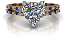 design your own heart shaped engagement ring