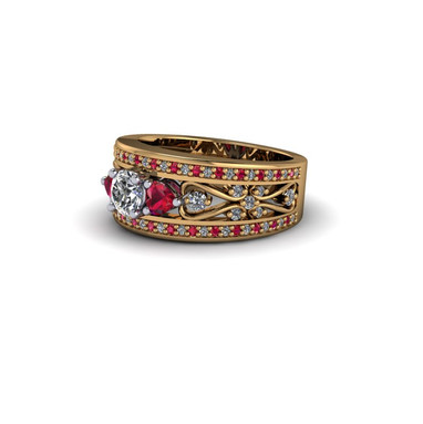 RUBY HEART ETERNITY RING