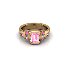 EMERALD-CUT PINK DIAMOND SOLITAIRE RING