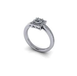 ROUND BRILLIANT DIAMOND HALO RING