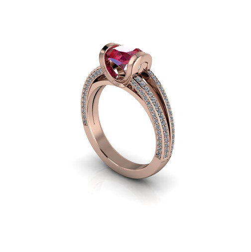 SOLITAIRE CATHEDRAL RING