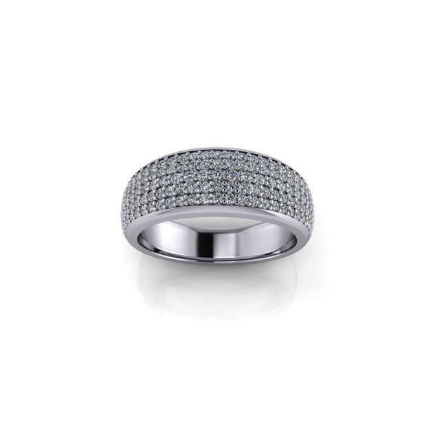 PAVE SET WHITE GOLD WEDDING BAND