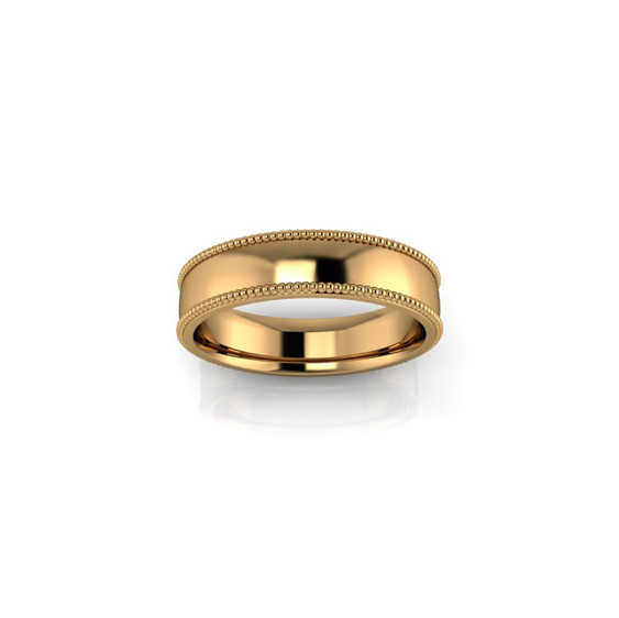 YELLOW GOLD WEDDING BAND