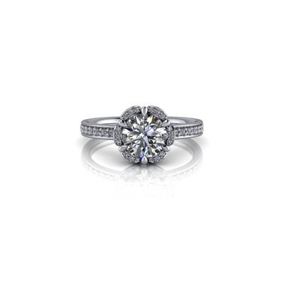 SPLIT HALO ROUND DIAMOND RING