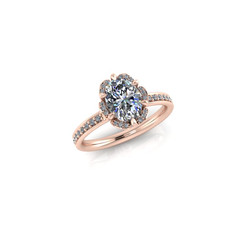 SIX-PRONG-SET OVAL SOLITAIRE RING