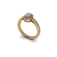 OVAL DIAMOND HALO RING