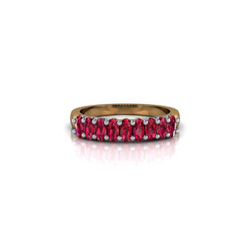 RUBY OVAL ETERNITY BAND