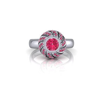PINK AND PINK WHITE GOLD RING