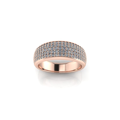 PAVE SET ROSE GOLD WEDDING BAND