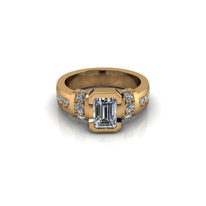 EMERALD-CUT DIAMOND SOLITAIRE RING