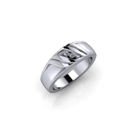 PLATINUM TWO STONE BAND