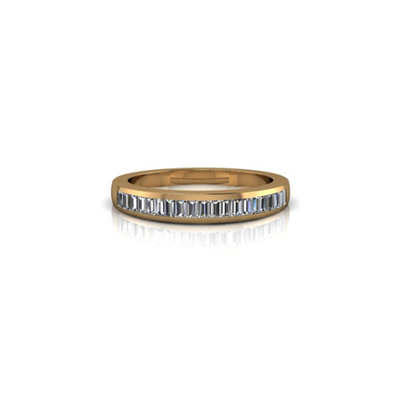 CHANNEL-SET DIAMOND BAND RING