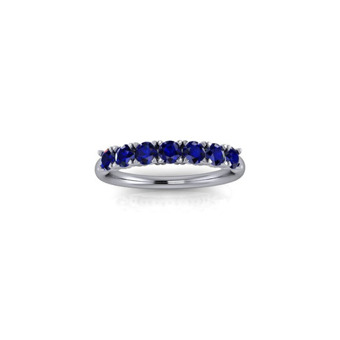 WHITE GOLD CLAW SET SAPPHIRE RING