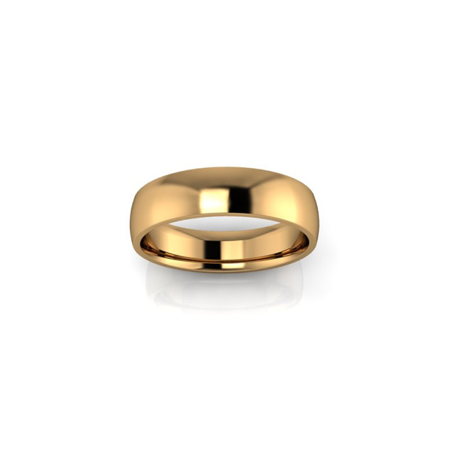 YELLOW GOLD COURT WEDDING BAND