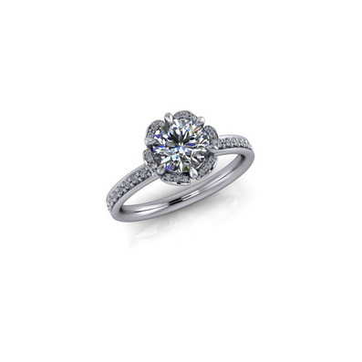 SIX-PRONG-SET ROUND BRILLIANT SOLITAIRE RING