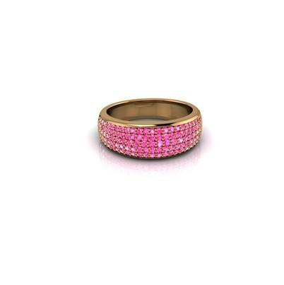 PAVE PINK DIAMOND BAND RING