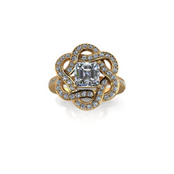 INTERLACING DIAMOND RING