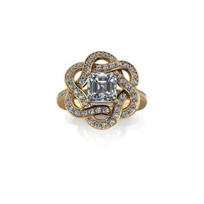 INTERLACING DIAMOND RING