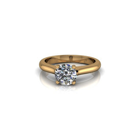 MODERN YELLOW GOLD SOLITAIRE RING