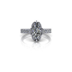 SPLIT HALO MARQUISE DIAMOND RING