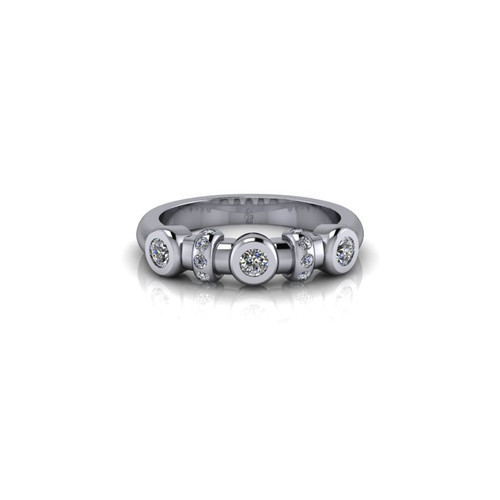 BEZEL SET PLATINUM RING