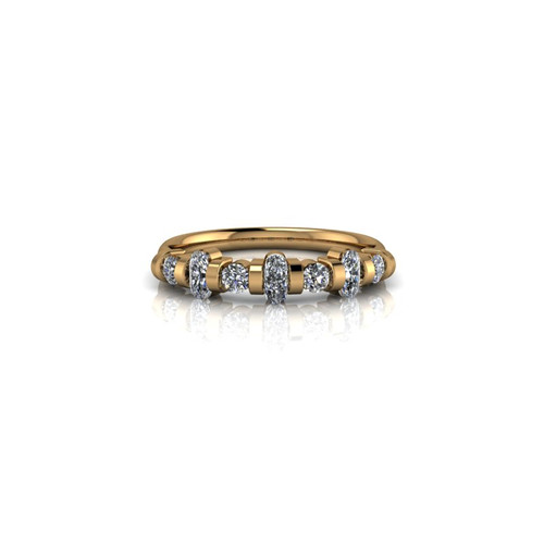 YELLOW GOLD BAR SET WEDDING RING
