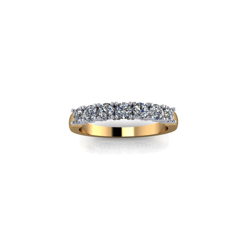 YELLOW GOLD CLAW SET DIAMOND RING