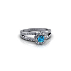 SPLIT BAND DIAMOND ENGAGEMENT RING