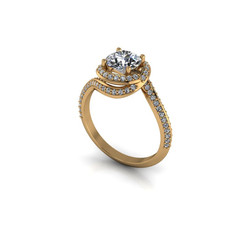 DIAMOND TWIRL SOLITAIRE RING