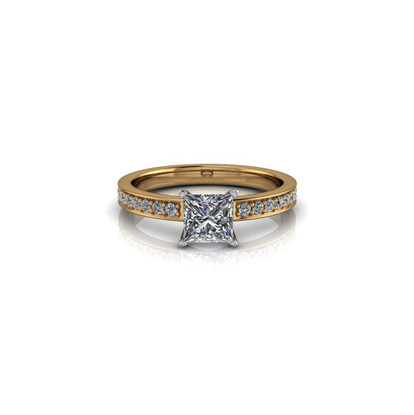 MODERN PRINCESS CUT SOLITAIRE RING