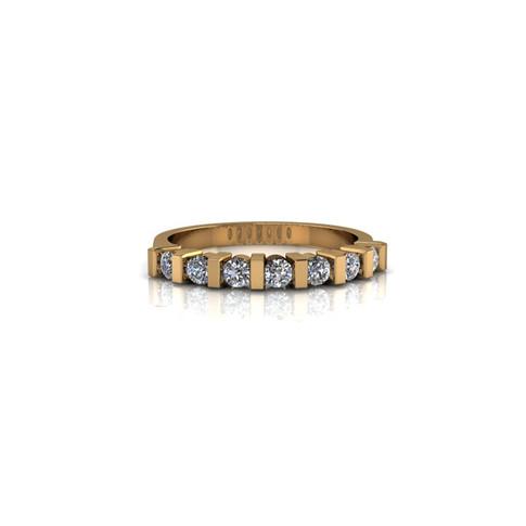 YELLOW GOLD BAR SET WEDDING RING