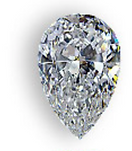Pear shaped diamond for your custom ring