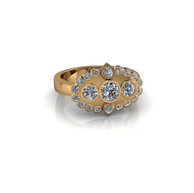 PEAR AND ROUND-CUT RING