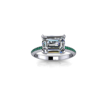 CLASSIC EMERALD CUT SOILITAIRE RING