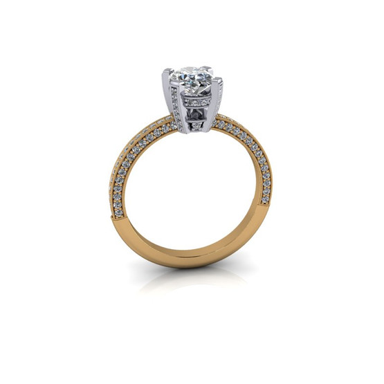 THREE-SIDED PAVE RING
