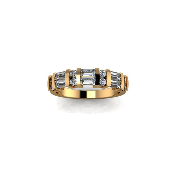 BAR SET YELLOW GOLD DIAMOND BAND