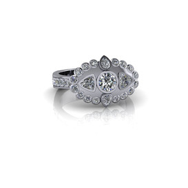PEAR AND TRILLION-CUT RING