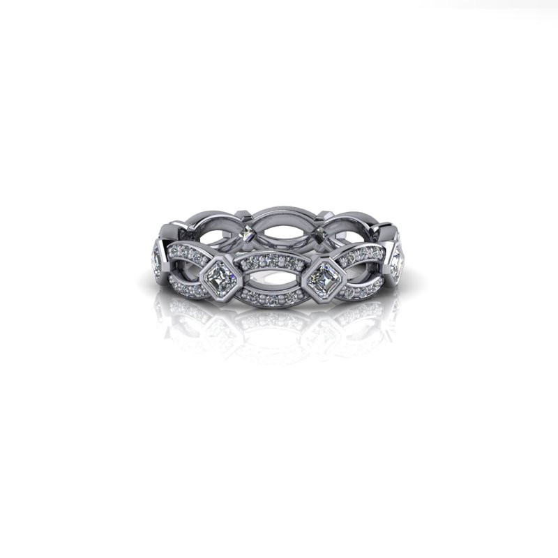 TWISTED PLATINUM DIAMOND BAND