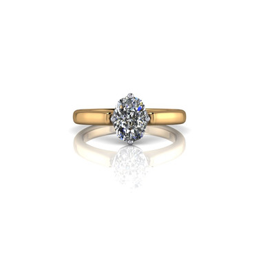 CLASSIC OVAL CUT SOLITAIRE RING