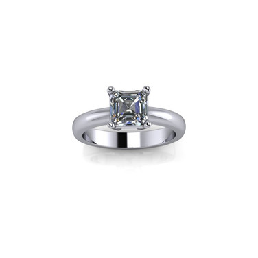 CLASSIC PRINCESS CUT SOLITAIRE RING