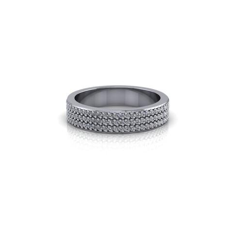 PAVE SET DIAMOND WEDDING BAND