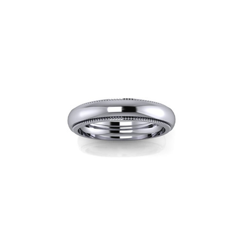 PLATINUM MILGRAIN BAND RING