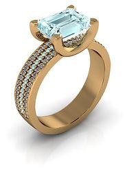 Glamourous gold bespoke engagement rings
