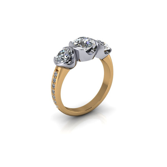 TRIO SOLITAIRE RING