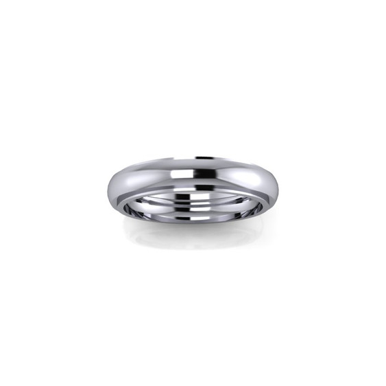 WHITE GOLD STEPPED BAND RING