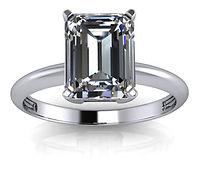 classic emerald solitaire bspoke design engagement ring
