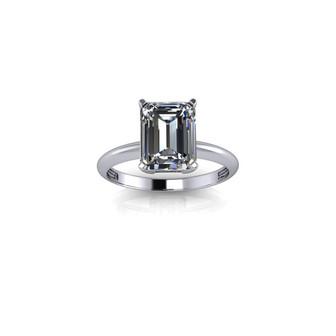 CLASSIC EMERALD CUT SOILITAIRE RING