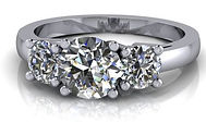 Classic cluster customised engagement ring