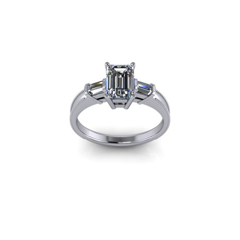 CLASSIC EMERALD CUT SOLITAIRE RING
